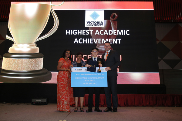 Vincent Lau Han Leong – Recipient of Highest Academic Achievement Award