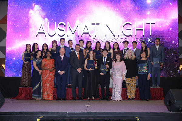 Group photo with the recipients of Best Subject Award, Highest Academic Achievement Award and Shield of Excellence Award