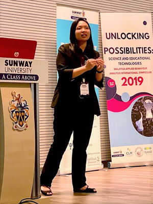 Ms Chong Ling Chih, Director of the Behaviour Analysis Academy of Malaysia giving her talk on restricted and repetitive behaviour.