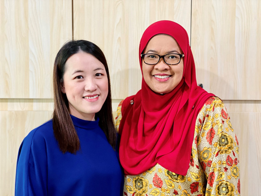 Elaine Yong and Annyza Tumar